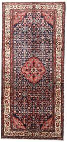 Hamadan Covor 147X320 Orientale Lucrat Manual Maro Închis/Bej (Lână, Persia/Iran)