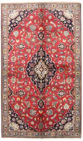 Kashan Covor 145X240 Orientale Lucrat Manual Roșu-Închis/Gri Închis (Lână, Persia/Iran)
