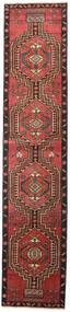 Ardabil Patina Covor 81X385 Orientale Lucrat Manual Roșu-Închis/Negru (Lână, Persia/Iran)