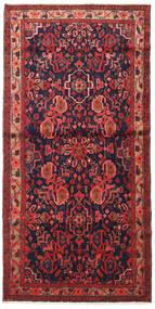 Nahavand Covor 110X225 Orientale Lucrat Manual Roșu-Închis/Negru (Lână, Persia/Iran)