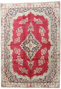 Kerman Covor 195X275 Orientale Lucrat Manual Bej/Roșu-Închis (Lână, Persia/Iran)