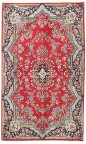 Kerman Covor 135X225 Orientale Lucrat Manual Roşu/Maro Deschis (Lână, Persia/Iran)