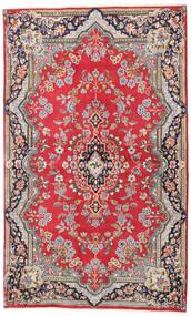 Kerman Covor 135X220 Orientale Lucrat Manual Ruginiu/Maro Deschis (Lână, Persia/Iran)
