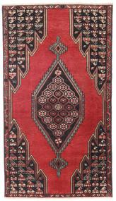 Saveh Patina Covor 98X176 Orientale Lucrat Manual Negru/Roșu-Închis (Lână, Persia/Iran)