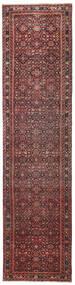 Hosseinabad Patina Covor 79X317 Orientale Lucrat Manual Roșu-Închis/Maro Închis (Lână, Persia/Iran)