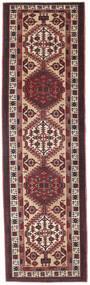 Sarab Patina Covor 100X345 Orientale Lucrat Manual Maro Închis/Roșu-Închis (Lână, Persia/Iran)
