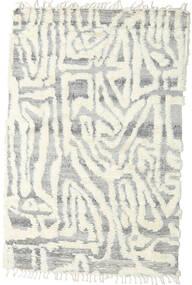 Barchi/Moroccan Berber - Indo Covor 153X235 Modern Lucrat Manual Gri Deschis/Bej-Crem/Bej (Lână, India)
