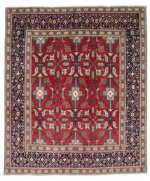 Tabriz Patina Covor 195X232 Orientale Lucrat Manual Mov Închis/Roşu (Lână, Persia/Iran)