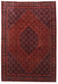 Bidjar Zanjan Covor 253X365 Orientale Lucrat Manual Roșu-Închis/Negru Mare (Lână, Persia/Iran)