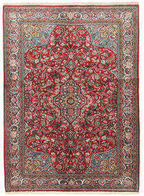 Sarouk Covor 133X183 Orientale Lucrat Manual Roșu-Închis/Bej (Lână, Persia/Iran)