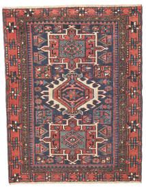 Heriz Patina Covor 96X123 Orientale Lucrat Manual Gri Închis/Ruginiu (Lână, Persia/Iran)