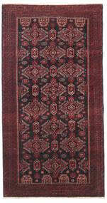Beluch Patina Covor 95X177 Orientale Lucrat Manual Roșu-Închis/Negru/Maro Închis (Lână, Persia/Iran)