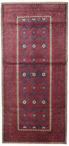 Beluch Patina Covor 116X252 Orientale Lucrat Manual Gri Închis/Roşu (Lână, Persia/Iran)