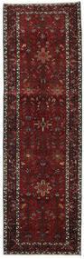 Heriz Covor 100X318 Orientale Lucrat Manual Roșu-Închis/Gri Închis (Lână, Persia/Iran)