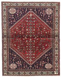 Abadeh Covor 100X128 Orientale Lucrat Manual Maro Închis/Roșu-Închis (Lână, Persia/Iran)