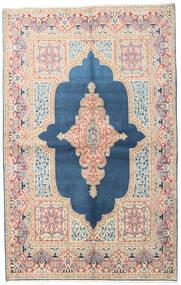 Kerman Covor 147X230 Orientale Lucrat Manual Albastru/Bej (Lână, Persia/Iran)