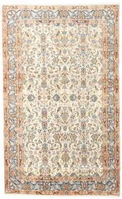 Kerman Covor 150X240 Orientale Lucrat Manual Bej/Roz Deschis (Lână, Persia/Iran)