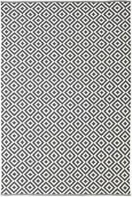 Torun - Negru/Neutral Covor 200X300 Modern Lucrate De Mână Gri Închis/Bej (Bumbac, India)