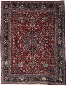 Mashhad Patina Covor 304X398 Orientale Lucrat Manual Roșu-Închis/Gri Închis Mare (Lână, Persia/Iran)