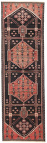 Hamadan Patina Covor 90X285 Orientale Lucrat Manual Negru/Maro (Lână, Persia/Iran)