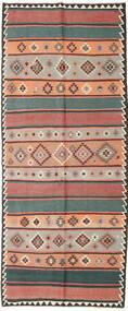 Chilim Fars Covor 155X380 Orientale Lucrate De Mână Roșu-Închis/Negru (Lână, Persia/Iran)