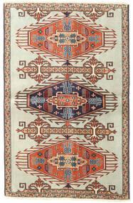 Ardabil Patina Covor 90X140 Orientale Lucrat Manual Maro Deschis/Bej Închis (Lână, Persia/Iran)