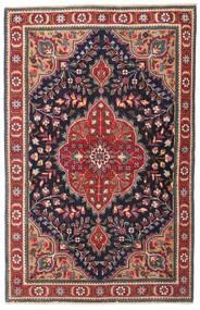 Tabriz Patina Covor 98X150 Orientale Lucrat Manual Gri Închis/Roșu-Închis (Lână, Persia/Iran)
