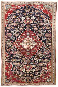 Yazd Covor 145X220 Orientale Lucrat Manual Mov Închis/Roșu-Închis (Lână, Persia/Iran)