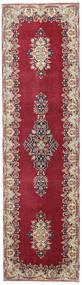 Kerman Patina Covor 90X325 Orientale Lucrat Manual Roșu-Închis/Bej (Lână, Persia/Iran)