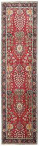 Tabriz Patina Covor 98X387 Orientale Lucrat Manual Gri Închis/Roșu-Închis (Lână, Persia/Iran)
