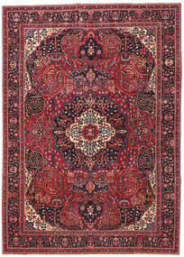 Mashhad Patina Covor 257X362 Orientale Lucrat Manual Roșu-Închis/Roşu Mare (Lână, Persia/Iran)