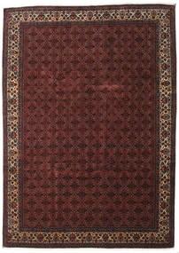 Bidjar Cu Mătase Covor 259X357 Orientale Lucrat Manual Roșu-Închis/Maro Închis Mare (Lână/Mătase, Persia/Iran)
