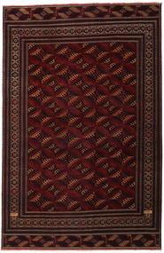 Turkaman Patina Covor 262X408 Orientale Lucrat Manual Roșu-Închis Mare (Lână, Persia/Iran)