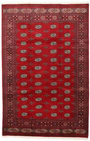 Pakistan Bukhara 2Ply Covor 202X312 Orientale Lucrat Manual Roşu/Roșu-Închis (Lână, Pakistan)