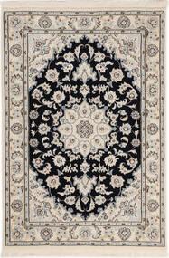 Nain 9La Sherkat Farsh Covor 80X120 Orientale Lucrat Manual Gri Deschis/Bej (Lână/Mătase, Persia/Iran)