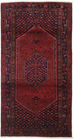 Hamadan Covor 102X198 Orientale Lucrat Manual Roșu-Închis/Maro Închis (Lână, Persia/Iran)