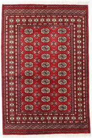 Pakistan Bukhara 2Ply Covor 125X185 Orientale Lucrat Manual Roșu-Închis (Lână, Pakistan)