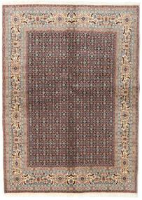 Moud Covor 142X198 Orientale Lucrat Manual Gri Deschis/Roșu-Închis (Lână/Mătase, Persia/Iran)