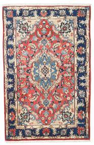 Kashmar Covor 88X138 Orientale Lucrat Manual Bej/Mov Închis (Lână, Persia/Iran)