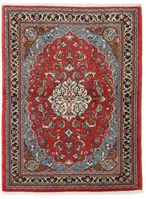 Sarouk Covor 110X145 Orientale Lucrat Manual Roșu-Închis/Maro Închis (Lână, Persia/Iran)