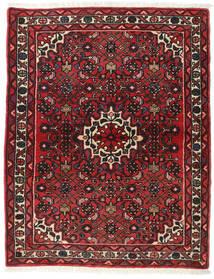 Hamadan Covor 113X142 Orientale Lucrat Manual Roșu-Închis/Maro Închis (Lână, Persia/Iran)