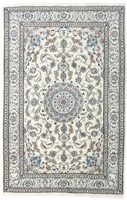 Nain Covor 198X304 Orientale Lucrat Manual Gri Deschis/Bej (Lână, Persia/Iran)