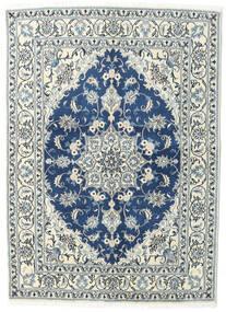 Nain Covor 144X200 Orientale Lucrat Manual Gri Deschis/Albastru Închis (Lână, Persia/Iran)
