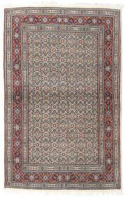 Moud Covor 100X155 Orientale Lucrat Manual Gri Deschis/Gri Închis (Lână/Mătase, Persia/Iran)