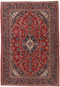 Kashan Covor 140X203 Orientale Lucrat Manual Maro Închis/Roșu-Închis (Lână, Persia/Iran)