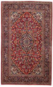 Kashan Covor 138X220 Orientale Lucrat Manual Roșu-Închis/Maro Închis (Lână, Persia/Iran)