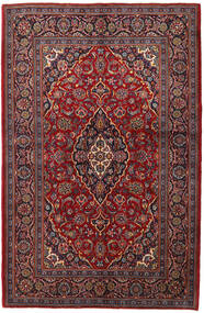 Kashan Covor 143X215 Orientale Lucrat Manual Roșu-Închis/Maro Închis (Lână, Persia/Iran)