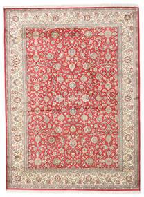 Kashmir Pură Mătase Covor 158X216 Orientale Lucrat Manual Bej/Gri Deschis (Mătase, India)