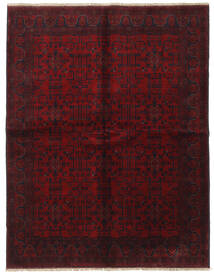 Afghan Khal Mohammadi Covor 175X225 Orientale Lucrat Manual Maro Închis/Roșu-Închis (Lână, Afganistan)