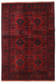 Afghan Khal Mohammadi Covor 132X189 Orientale Lucrat Manual Roșu-Închis/Maro Închis (Lână, Afganistan)